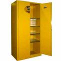 Securall® 36 x 24 x 72 déversement inflammables confinement armoire jaune