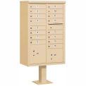 Salsbury Cluster Box Unit, 16 A Size Doors, Type III, Sandstone, USPS Access