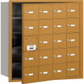 Salsbury 4B+ Horizontal Mailbox, 20 A Doors (19 usable), Front Loading, Gold, Private Access