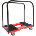 "Snap-Loc® SL1500PC4R Panneau Cart Dolly Red 1500 Lb Cap., Steel Frame, Strap Option, 4"" Casters"
