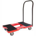 "Snap-Loc® SL1500P4R Push Cart Dolly Red 1500 Lb Cap., Steel Frame, Strap Option, 4"" Casters"