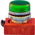 Springer Controls N5CLVD, 22 mm Pilot Light Operator, chrome, green poly lens