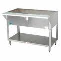 "Coldpan Table, 77.750""L 5-Pan Size, S/S Open Base w/Undershelf"