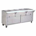 "Hot Food Table, Electric, 31.812""L (2) 12"" x 20"" Wells w/Sliding Doors,120V"