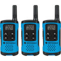 Motorola Talkbout® T100TMC talkie walkie, Neon bleu - Pack 3