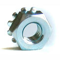 #6-32 Keps Locknut - Carbon Steel - Zinc - UNC - Pkg of 100