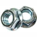 #6-32 Serrated Flange Hex Locknut - Case Hardened Steel (Baked) - Zinc - UNC - Pkg of 100