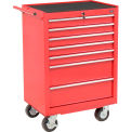 "Global™ Industrial 27"" 7-Drawer Roller Tool Cabinet W/ Ball Bearing Slides - Red"