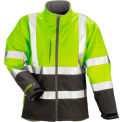 Tingley® J25022 Phase 3™ Soft Shell Jacket, Fluorescent Yellow/Green/Charcoal Gray, Medium