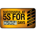 Accuform SCD502 Wearable Digi-Day® Scoreboard - Successful At 5S