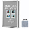 "United Visual Products W 24"" x 36"" H rayon extra-plat joint gris Tack simple Conseil"