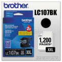 Brother® LC107BK Innobella Super High-Yield Ink, 1200 Page-Yield, Black
