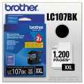 Brother® LC107BK Innobella Super High-Yield Ink, 1200-rendement, noir