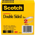 """Scotch® 665 Double-Sided Tape, 1/2"""" x 1296"""", 3"""" Core, Transparent, 2/Pack"""