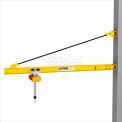 Gorbel® HD Wall Bracket Jib Crane, 10' Span & 200° Rotation, 1000 Lb Capacity