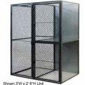 "Husky Rack & Wire Tenant Locker Double Tier Add-On Unit  4' W x 4' D x 7'-6"" Tall"