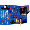 "Wall Control Pegboard Standard Tool Storage Kit, Blue/Black, 48"" X 32"" X 9"""