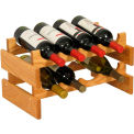 "8 Bottle Dakota™ Wine Rack, Light Oak, 9-7/8""H"