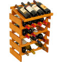 "20 Bottle Dakota™ Wine Rack with Display Top, Medium Oak, 25-5/8""H"