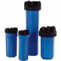 """10"""" Residential Blue/Black Plastic Filter Housing 3/8"""" Port - Pkg Qty 12"""