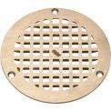 "Zurn 5"" diamètre rond Drain de plancher W/vis, Nickel"