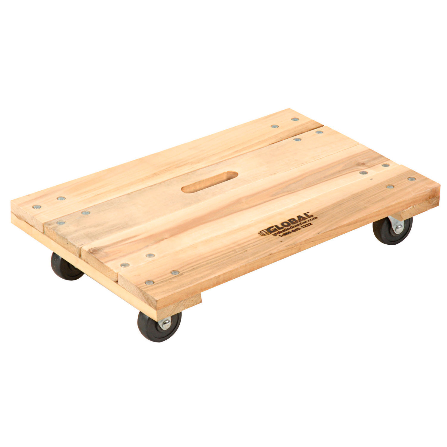 Global Industrial Hardwood Dolly With Solid Deck 24 X 16 1000 Lb Capacity 952154 Globalindustrial Ca