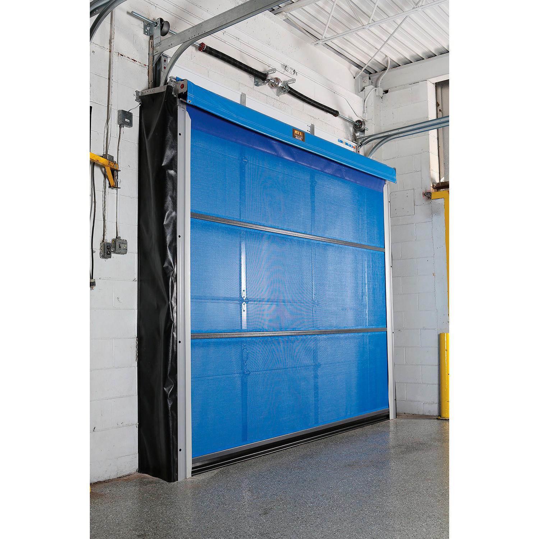 Goff S Motorized Roll Up Screen Door G1 600 B Uh 810 For 8 X 10 Opening Under Header Mount Blue B2331607 Globalindustrial Ca