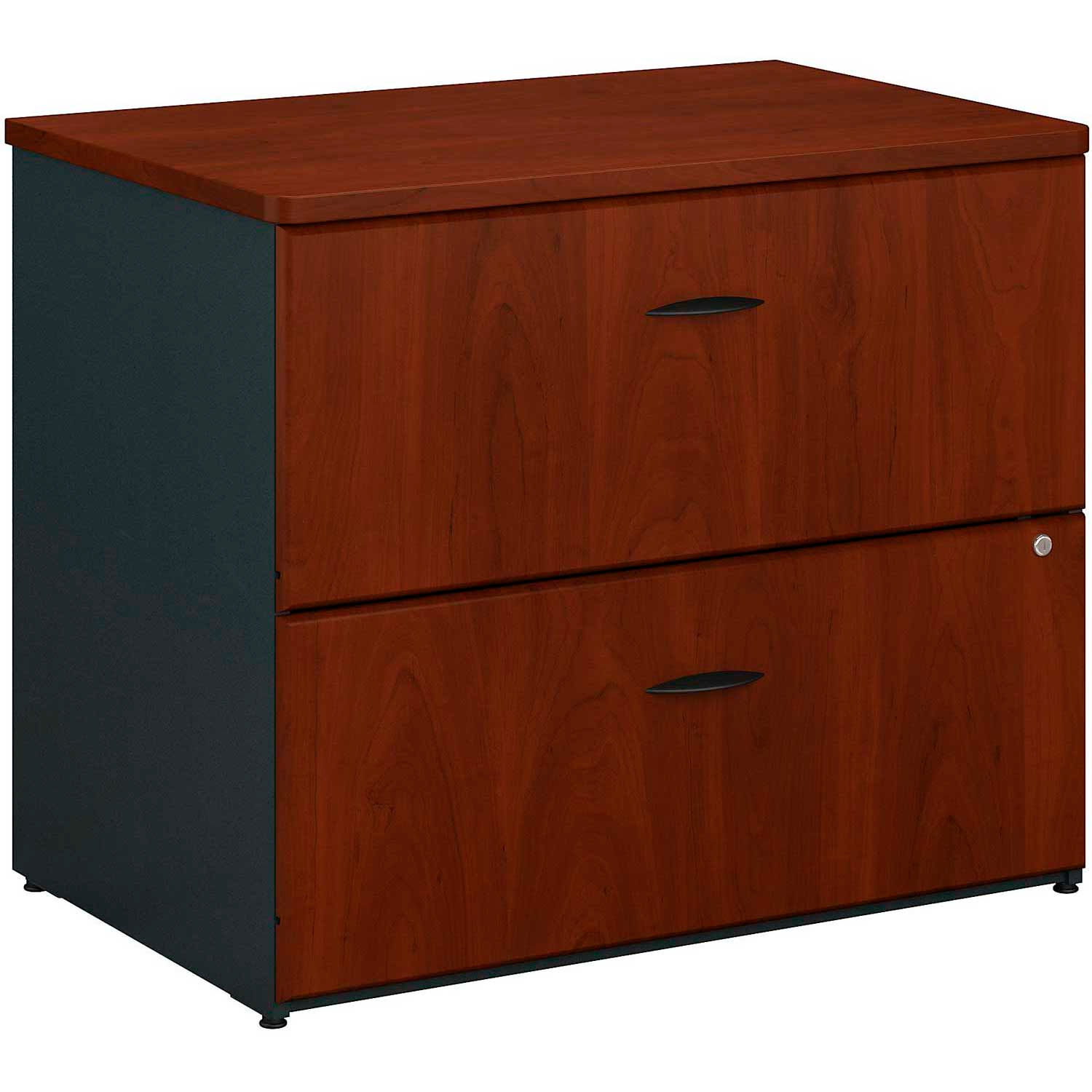 Picture of: Desks Steel Office Collections Bush Furniture 2 Drawer Lateral File Cabinet Assembled Hansen Cherry Series A B474061 Globalindustrial Ca