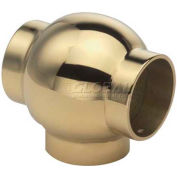 "Lavi Industries, Ball Tee, for 1.5"" Tubing, Polished Brass"
