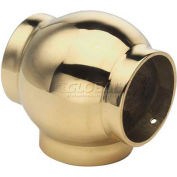 """Lavi Industries, Ball Tee, for 2"""" Tubing, Satin Stainless Steel"""