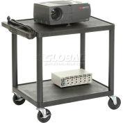 Audiovisuel en plastique & Instrument Cart 24 X 18 X 26 deux étagères