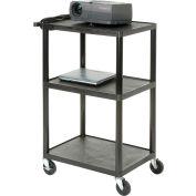 Plastic Audio Visual & Instrument Cart 32 X 24 X 40 Three Shelves