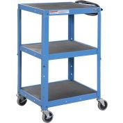 Chariot à instruments et à matériel audiovisuelGlobal Industrial®, acier, bleu