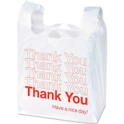 """""""Thank You"""" Printed Plastic Bags 11"""" x 6"""" x 22"""" 0.5 Mil 250 Pack"""