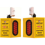 Collision Awareness Overhead Forklift Door Monitor, 2 Boxes, 2 Sensors, 2 Lights, 15' Cord