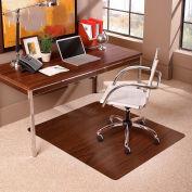 "ES Robbins® Trendsetter Chair Mat for Medium Pile Carpet - 36"" x 48"" - Dark Cherry Woodgrain"