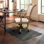 ES Robbins® Trendsetter Chair Mat for Hard Floors - 36 » x 48 » - Pewter
