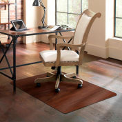 ES Robbins® Trendsetter Chair Mat for Hard Floors - 36 » x 48 » - Dark Cherry Woodgrain