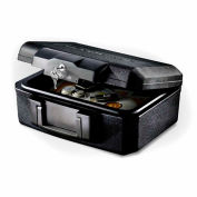 "SentrySafe Personal Fire Chest 1200 Key Lock, 14-5/16""W x 11-3/16""D x 6-1/8""H, Black"