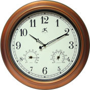 "Infinity Instruments 18"" Craftsman All Weather Wall Clock"
