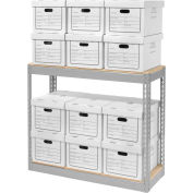 """Record Storage With Boxes 42""""W x 15""""D x 36""""H"""