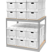 """Record Storage With Boxes 42""""W x 30""""D x 36""""H"""
