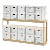 """Record Storage Rack With Boxes 72""""W x 15""""D x 36""""H"""
