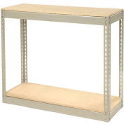 """Record Storage Without Boxes 72""""W x 15""""D x 36""""H - Gray"""