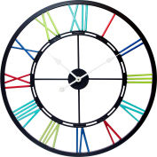 "Infinity Instruments 24"" Multicolor Metal Fusion Wall Clock"