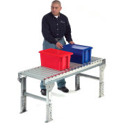 "Omni Metalcraft 1.9"" Dia. Steel Roller Conveyor Straight Section GPHS1.9X16-36-9-10-LL"