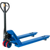 Global Industrial™ Premium Low-Profile Narrow Fork Pallet Jack Truck 4500 Lb. Cap. 21x48 Fourches