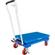 "Global Industrial™ Mobile Single Scissor Lift Table, 32"" x 19"" Platform, 550 Lb.Capacity"
