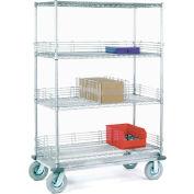 Nexel® Chrome Wire Shelf Truck 36x24x83 1200 Pound Capacity