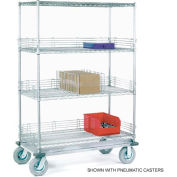 Nexel® Chrome Wire Shelf Truck 60x24x81 1600 Pound Capacity